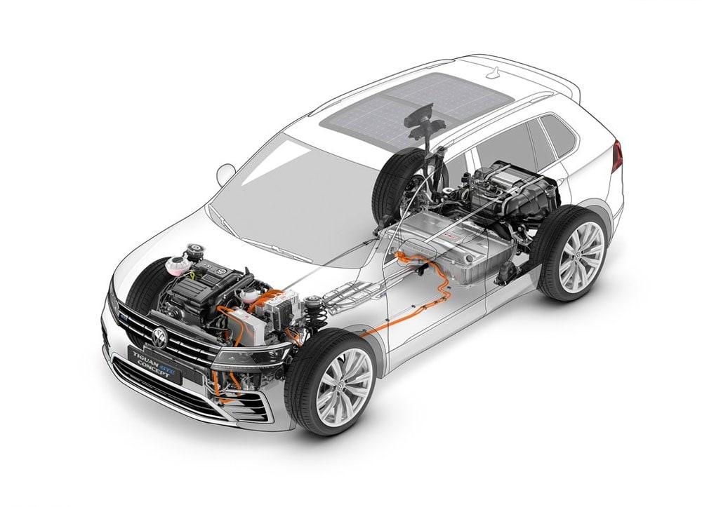 фото техника Volkswagen Tiguan GTE Concept 2015-2016 года