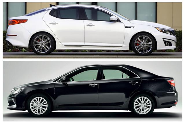 Kia Optima и Toyota Camry схожи практически по всем параметрам